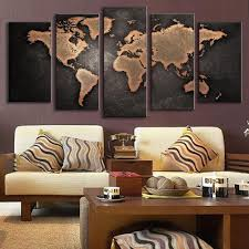5 panel world map oil painting u2013 travel bible shop
