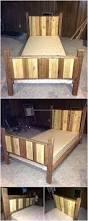 Pallet Bed Furniture Ideas 316 Best Pallet Beds Images On Pinterest Wooden Pallets Pallet