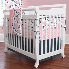Navy And Coral Crib Bedding Custom Baby Bedding Set Crib Bedding Coral And