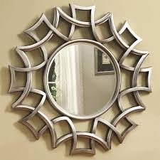 Circle Wall Mirrors Chicago Furniture Round Wall Mirror In Silver Finish