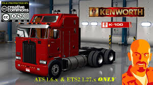 kenwood truck kenworth k100 ets2 1 26 x mod for ets 2