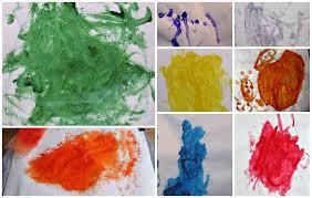single color art exploration encouraging less arty kids