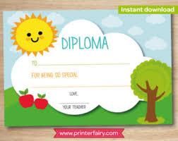preschool graduation certificate preschool diploma etsy