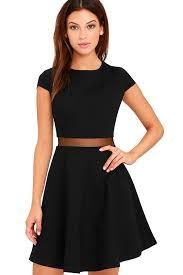 black skater dress black dress skater dress mesh dress 54 00