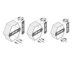 wandregal hexagon hexagon regal set online bestellen bei tchibo 322440