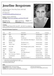 actors resume template actor resume exle best resume collection