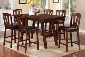 High Table Chairs Counter Height Casual Dining Large Square Counter Height Table