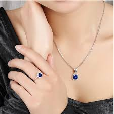 sapphire necklace gold chain images Lady luxurious 0 75ct real natural sri lanka blue sapphire pendant jpg