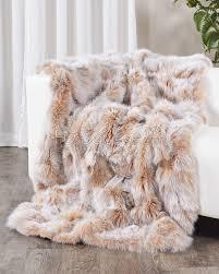 Faux Fur Throw Pillow Champagne Fox Fur Blanket Throw Fursource Com