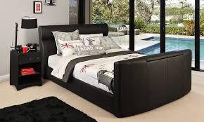 Tv Storage Bed Frame Black Upholstered Size Bed Bedshed I Actually