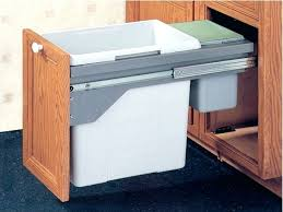 In Cabinet Trash Cans For The Kitchen Ikea Trash Bin Cabinet Option 2 Under Sink Garbage Bin With Lid