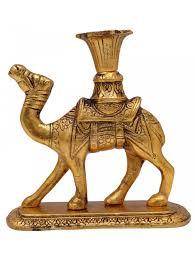 decorative camel candle stand brass statue figurine sculpture