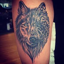 girly leg tattoo designs wolf thigh tattoo cute thigh tattoos pinterest thighs wolf
