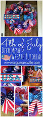 Fourth Of July Door Decorations 4th Of July Deco Mesh Wreath Tutorial Memorial Day Deco Mesh