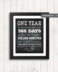 one year anniversary gifts for husband chalkboard style anniversary gift for husband for