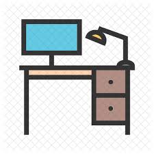 Office Desk Icon Office Desk Icon Furniture Home Decor Appliances Icons In Svg