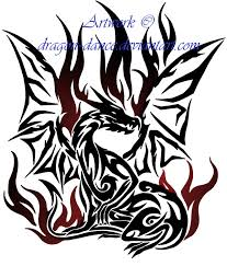 tribal flaming dragon tattoo commission by dansudragon on deviantart