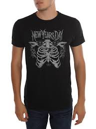 new years t shirts new years day rib cage t shirt hot topic