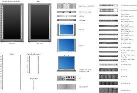 visio data center floor plan rack diagrams solution conceptdraw com