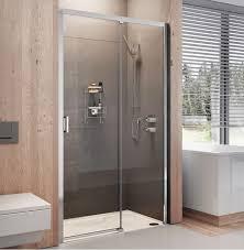 Luxury Shower Doors Lumin8 Level Access Sliding Luxury Shower Door 8mm 1400mm
