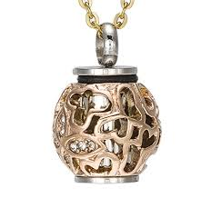 keepsake for ashes oyo mall memorial jewelry necklace hollow diamond cremation urn