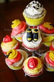 firefighter cupcake toppers cupcake ideas babygaga