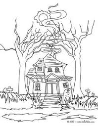 halloween coloring pages haunted house coloring page halloween