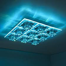 colour changing led ceiling lights led colour changing ceiling flush light with remote control amazon
