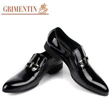 wedding shoes brands grimentin 2017 men patent leather shoe black slip on italian