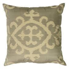 ikat pure silk decorative pillow bristow beige u2013 afleure