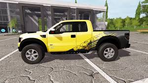 Ford F 150 Yellow Truck - f 150 svt raptor autoloader v1 1 for farming simulator 2017
