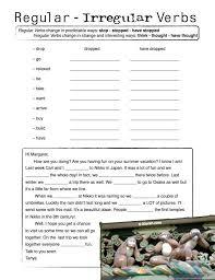 regular and irregular verbs worksheet free worksheets library