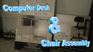 Mainstays Student Computer Desk by Computer Desk U0026 Chair Assembly Youtube