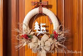 burlap christmas wreath diy rustic burlap christmas wreath aol lifestyle