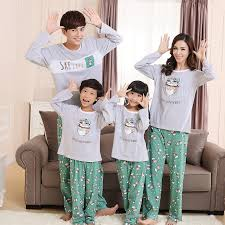 family matching clothes pajamas boy family look