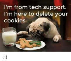 Tech Support Memes - i m from tech support i m here to delete your cookies cookies