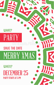 vector happy new year or merry theme save the date inv