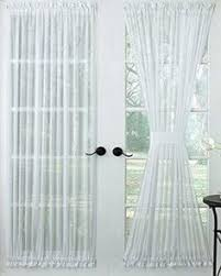 60 Inch Length Curtains Reverie Snow Voile Tailored Door Panel Rod Pocket Header And