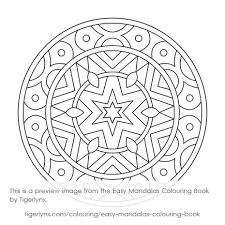 easy mandalas colouring book