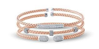 silver woven bracelet images Nardini sterling silver rose gold finish woven skinny bracelet gif