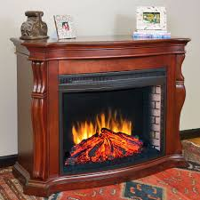 electric fireplace with mantle binhminh decoration
