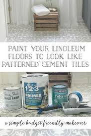 How To Paint A Tile Floor Bathroom - how to paint your linoleum or tile floors to look like patterned