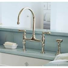 Bridge Faucet For Kitchen Rohl U 4719l Perrin And Rowe Bridge Faucet With Sidespray Faucet