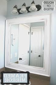 White Framed Bathroom Mirrors Bathroom Creative White Frame Bathroom Mirror Decorations Ideas