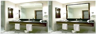 framed bathroom mirror ideas check this frame my bathroom mirror powder room framed mirror