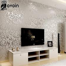 livingroom wallpaper wholesale victorian damask wallpaper silver leaf scroll background
