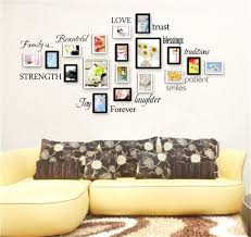 blessings home decor diy warm family photo frame wall sticker love blessing home decals