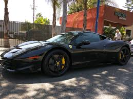 replica ferrari 458 italia redditpics beautiful black ferrari 458 italia in west hollywood