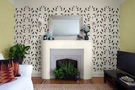decoration ideas black lovely flower on light grey wall painting
