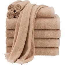 Bathroom Accessories Walmart Com by Mainstays 100 Cotton Gtp Hand Towel Vallejo Tan Walmart Com